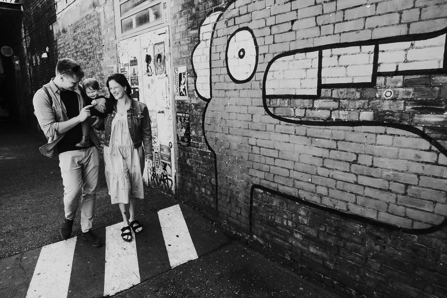 family with peckham graffiti wall london family photography