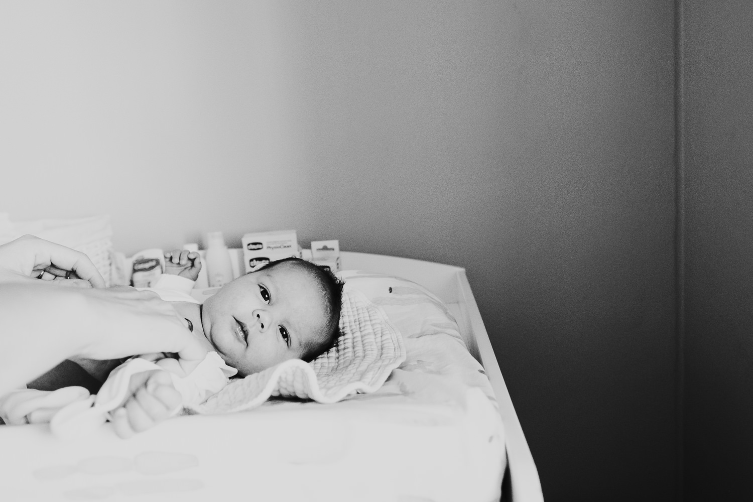 milan family photographer baby boy black and white photo