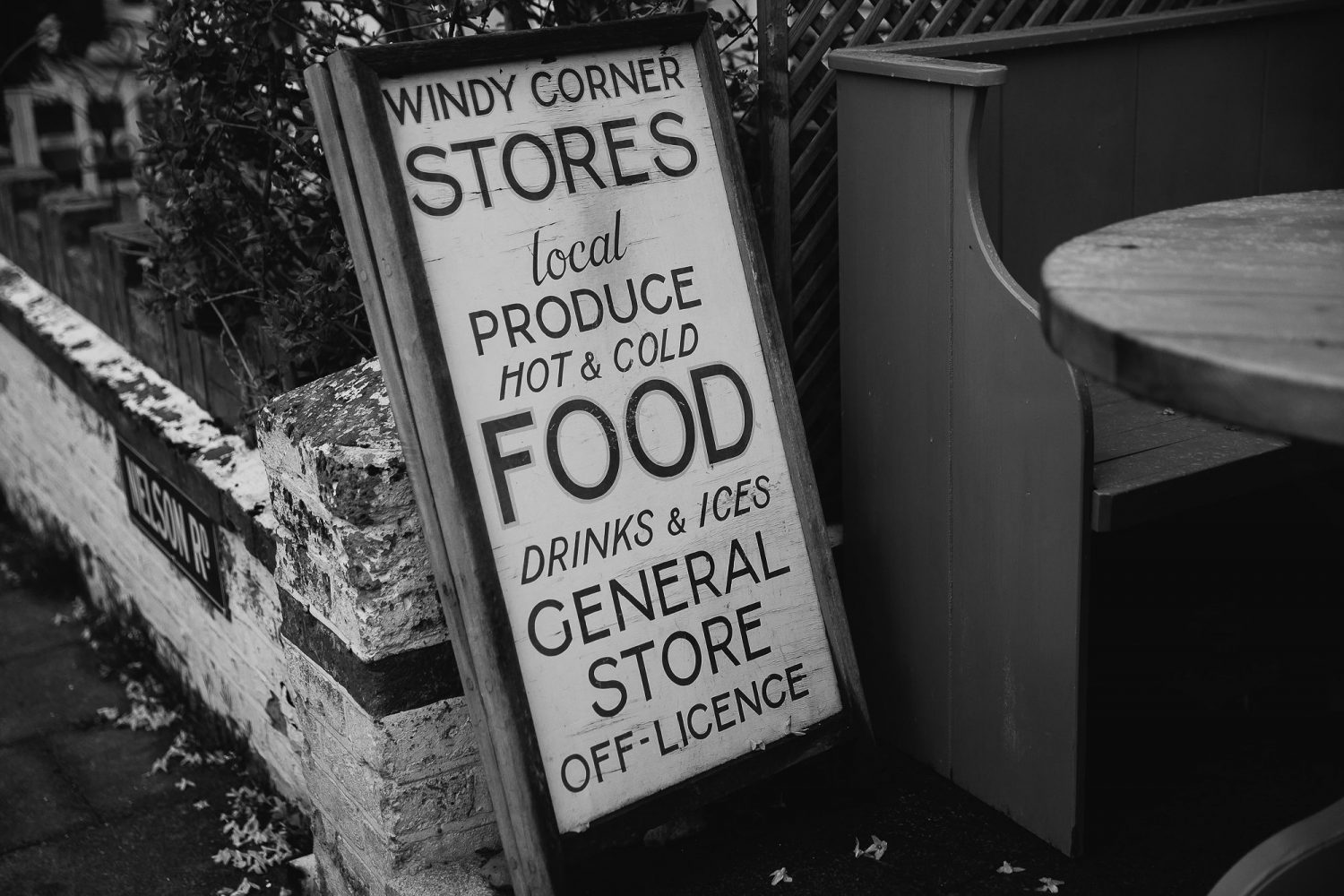 day in the life photography cafe sign windy corner stores