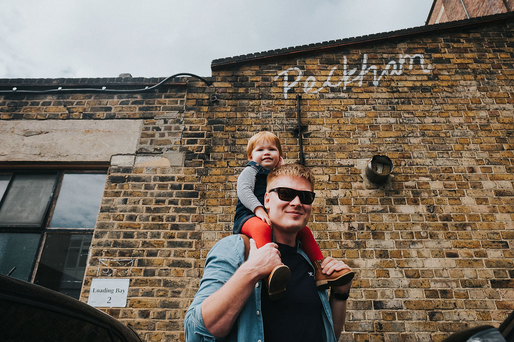 dad with toddler peckham london family photos
