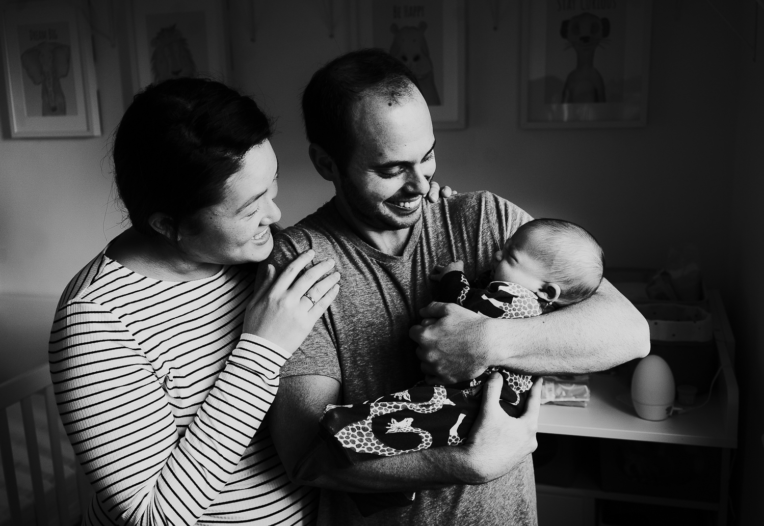parents with new baby london baby photographer