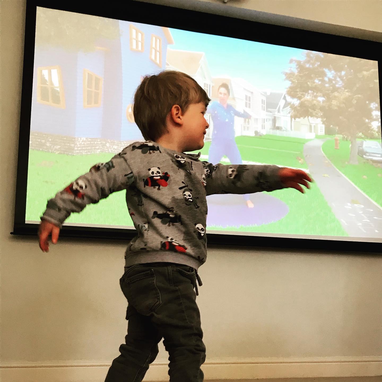 KIDS LOCKDOWN ACTIVITY IDEAS TODDLER BOY DOING YOGA