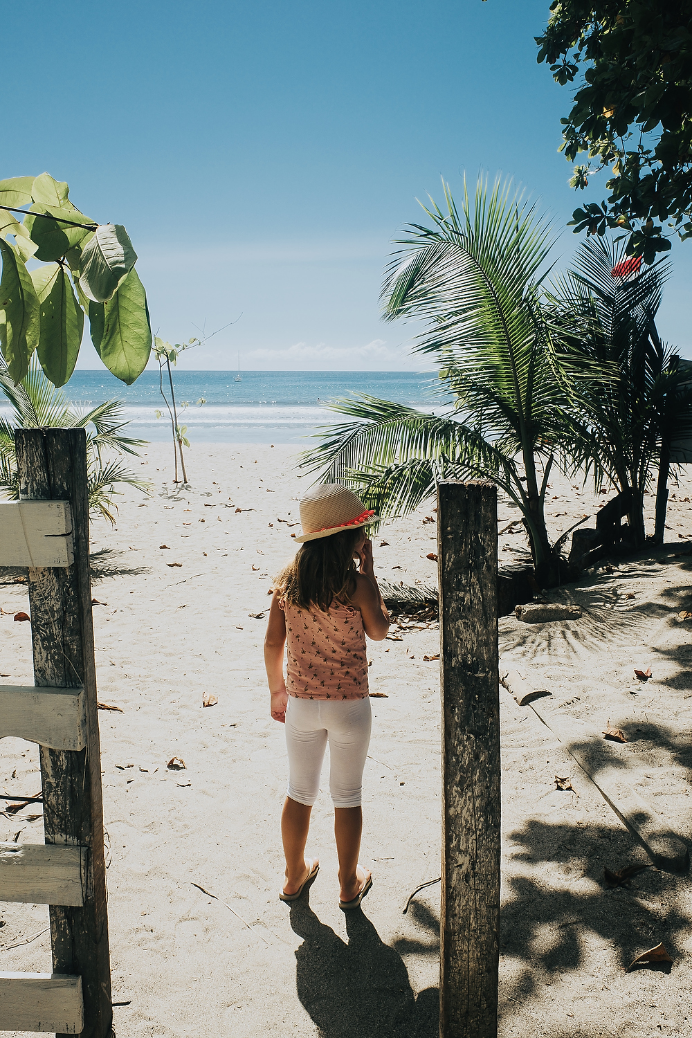 take awesome iphone photos of your kids child on tropical beach with palm trees