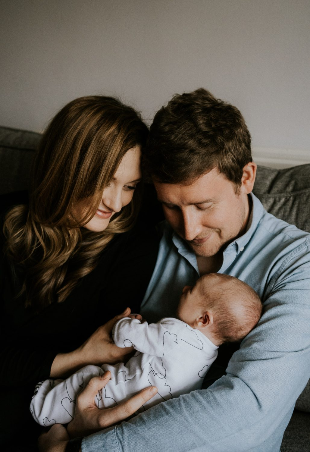 newborn photo session at home in highgate photo of baby boy with parents